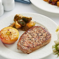 Hatfield Premium Reserve 6 oz. All-Natural Ribeye Pork Steak - 20/Case