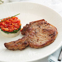 Hatfield Premium Reserve 8 oz. All-Natural Bone-In Center Cut Pork Chop - 20/Case