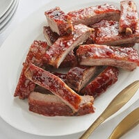 Hatfield Premium Reserve 3 lb. All-Natural St. Louis Style Ribs - 6/Case