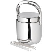 Carlisle 609190 1.5 Qt. Stainless Steel Double Wall Ice Bucket with Tongs