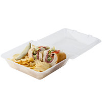 GET EC-02 9 inch x 9 inch x 3 1/2 inch Clear Customizable Reusable Eco-Takeouts Container - 12/Pack