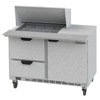Beverage-Air SPED48HC-12M-2 48 inch 1 Door 2 Drawer Mega Top Refrigerated Sandwich Prep Table
