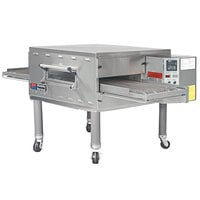 Middleby Marshall PS536NAT 60 inch Stainless Steel Natural Gas Conveyor Oven with 18 inch Wide Belt - 75,000 BTU, 208V