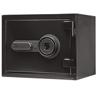 Barska AX13498 11 13/16 inch x 15 inch x 11 13/16 inch Black Steel Fireproof Biometric Security Safe with Fingerprint Lock and Key Access - 0.75 Cu. Ft.