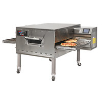 Middleby Marshall PS540E 80 inch Stainless Steel Electric Conveyor Oven with 32 inch Wide Belt - 208V, 3 Phase