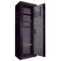 Barska AX11780 19 5/8 inch x 16 inch x 57 inch Black Extra-Large Steel Biometric Security Safe with Rifle Rack, Fingerprint Access, and Key Lock - 9.34 Cu. Ft.