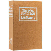 Barska CB11990 4 1/2 inch x 2 inch x 7 1/4 inch Dictionary Book Steel Security Box with Combination Lock