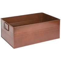 American Metalcraft BEV1220 Full Size Copper Rectangular Hammered Beverage Tub - 20 1/2 inch x 12 1/2 inch x 8 inch