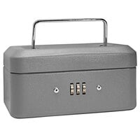 Barska CB11782 6 inch x 4 1/2 inch x 3 1/8 inch Extra Small Gray Steel Cash Box with Combination Lock and Handle
