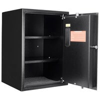 Barska AX11650 14 inch x 13 inch x 19 3/4 inch Black Large Steel Biometric Security Safe with Fingerprint Access and Key Lock - 1.45 Cu. Ft.