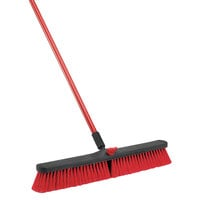Libman 805 24 inch Multi-Surface Push Broom - 4/Pack