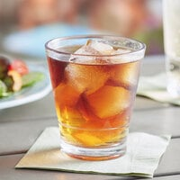 Choice 12 oz. SAN Plastic Stackable Double Rocks / Old Fashioned Glass - 24/Case