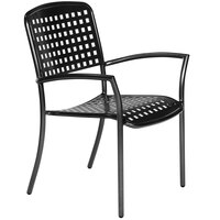 Wabash Valley HA911AP Hanna Powder-Coated Aluminum Arm Chair with Square Perforated Seat and Back