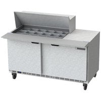 Beverage-Air SPE60HC-18M 60 inch 2 Door Mega Top Refrigerated Sandwich Prep Table