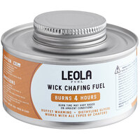 Leola Fuel Premium 4 Hour Wick Chafing Dish Fuel with Safety Twist Cap - 24/Case