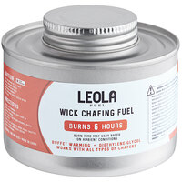 Leola Fuel Premium 6 Hour Wick Chafing Dish Fuel with Safety Twist Cap - 24/Case