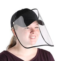 Choice Black 6-Panel Cap with Detachable PVC Face Shield