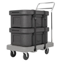 Vollrath 1694 19 inch x 34 1/2 inch x 8 13/16 inch Gray Flatbed Utility Dolly with 5 inch Casters and Straps