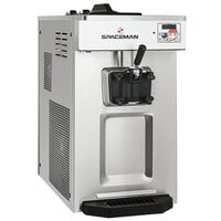 Spaceman 6236A-C Countertop Soft Serve Ice Cream Machine with Pressurized Air Pump, 1 Hopper, and 1 Dispenser - 208-230V