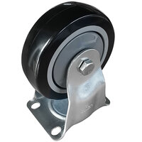 Lavex Industrial 4 inch x 1 1/4 inch Rigid Plate Caster for Lavex Industrial Cube Trucks
