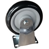 Lavex Industrial 5 inch x 1 1/4 inch Rigid Plate Caster for Lavex Industrial Cube Trucks