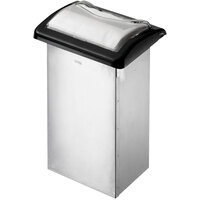 San Jamar H2003CB12 In-Counter Fullfold Stainless Steel Napkin Dispenser with Black Finish and Clear Face