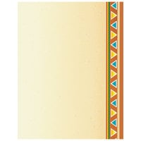 8 1/2 inch x 11 inch Menu Paper - Southwest Themed Fiesta Border Design Right Insert - 100/Pack