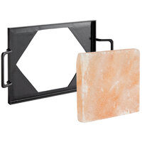 8 inch x 8 inch Square Himalayan Salt Slab with Oven- and Grill-Safe Serving Tray
