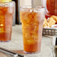 Choice 22 oz. Clear SAN Plastic Paneled Tumbler - 12/Pack