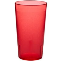 Choice 12 oz. Red SAN Plastic Pebbled Tumbler - 12/Pack
