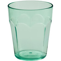 Choice 12 oz. Green SAN Plastic Paneled Tumbler - 12/Pack