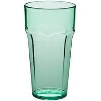 Choice 22 oz. Green SAN Plastic Paneled Tumbler - 12/Pack