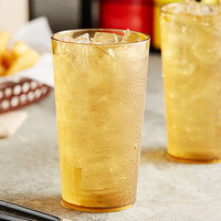 Choice 12 oz. Amber SAN Plastic Pebbled Tumbler - 12/Pack