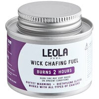 Leola Fuel Premium 2 Hour Wick Chafing Dish Fuel with Safety Twist Cap - 12/Pack