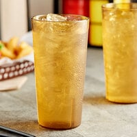 Choice 20 oz. Amber SAN Plastic Pebbled Tumbler - 12/Pack