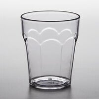 Choice 12 oz. Clear SAN Plastic Paneled Tumbler - 12/Pack