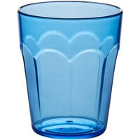 Choice 12 oz. Blue SAN Plastic Paneled Tumbler - 12/Pack