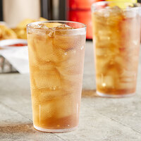 Choice 12 oz. Clear SAN Plastic Pebbled Tumbler - 12/Pack