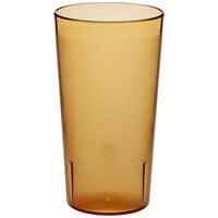 Choice 16 oz. Amber SAN Plastic Pebbled Tumbler - 12/Pack