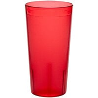 Choice 20 oz. Red SAN Plastic Pebbled Tumbler - 12/Pack