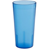 Choice 20 oz. Blue SAN Plastic Pebbled Tumbler - 12/Pack