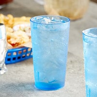 Choice 12 oz. Blue SAN Plastic Pebbled Tumbler - 12/Pack
