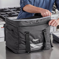 Vollrath VCBM100 1-Series Medium Insulated Food Pan Carrier / Catering Bag, 17 inch x 13 inch x 9 inch - Holds (3) Half Size Food Pans