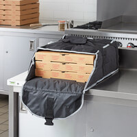 Vollrath VPB116 1-Series Insulated Pizza Delivery Bag, 17 1/2 inch x 17 1/2 inch x 9 inch - Holds (3) 16 inch Pizza Boxes
