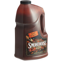 Smokehouse 220 1 Gallon Sweet and Spicy Barbecue Sauce - 4/Case