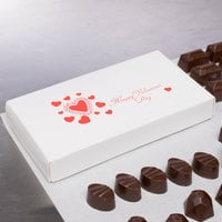 7 3/8 inch x 4 inch x 1 1/8 inch 2-Piece 1/2 lb. Valentine's Day Candy Box - 125/Case