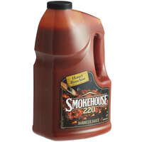 Smokehouse 220 1 Gallon Honey Bourbon Barbecue Sauce - 2/Case