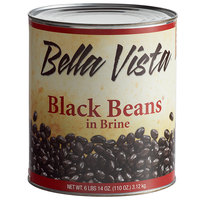 Bella Vista #10 Can Black Beans in Brine - 6/Case