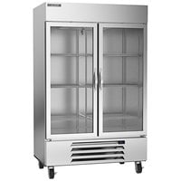 Beverage-Air HBR49HC-1-G Horizon Series 52 inch Bottom Mounted Glass Door Reach-In Refrigerator with LED Lighting