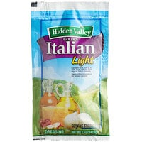 Hidden Valley 1.5 oz. Light Golden Italian Dressing Packet - 84/Case